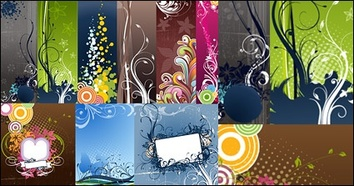 Banners,Backgrounds,Patterns