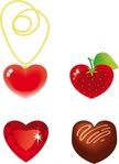 heart,shaped,gold,chain,strawberry,diamond,chocolate