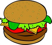 fast,food,lunch,dinner,menu,fastfood,colouring book,burger,bun,hamburger,beef,cheese