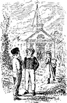 church,literature,sunday school,people,religion,christianity,tom sawyer,americana,media,clip art,externalsource,public domain,image,png,svg