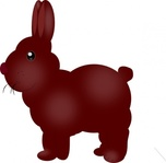 chocolate,bunny,rabbit,animal,easter,media,clip art,public domain,image,svg