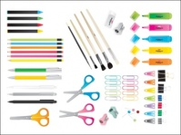 school,mega,vector pack,pencil,crayon,sharpener,scissors,rubber,brush,highlighter,pen,eraser,supply,paper,marker,kid,school object,tshirt,wave