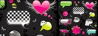 material,element,trend,web2,cute,dialogue,bubble,crystal,wing,skull,radio,gear-shaped,butterfly,astrocyte,button