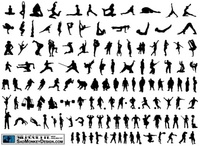 silhouette,smdsilhouette,people,different,action,soldier,gymnast,shooter,acrobat,stretching,dancing,break,dance,karate,kung fu,martial,art,kick,punch,football,sport,muscle,cowboy