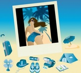 blue,summer,vista,icon,suitcase,polaroid,picture,fan,hat,beach,towel,tent,at,sunglasses,girl,bag,book,character,feminine,footwear,frame,human,lady,people,sexy,travel,umbrella,woman,animals,backgrounds & banners,buildings,celebrations & holidays,christmas,decorative & floral,design elements,fantasy