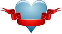 heart,ribbon,media,clip art,public domain,image,png,svg,tattoo,red,crest,emblem,creed,passion,love,valentine,sign,blue