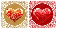 beautiful,crystal,style,heart,shaped,pattern,vector,material