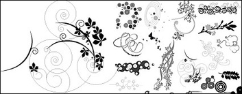 Patterns,Elements,Ornaments,Objects,Animals,Shapes,Flowers & Trees,Nature,Flourishes & Swirls