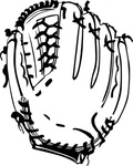 baseball,glove,sport,ball,colouring book