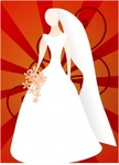 joelm,bride,sunburst,remix,colour,cartoon,silhouette,wedding,people,woman,flower,person