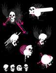 skull,misc,grunge,paint,wing,arrow,circle,punk,rock,anatomy,banner,body,bone,cranium,danger,dead,death,evil,gothic,halloween,horror,scary,shape,skeletal,splatter,spooky,winged,zombie