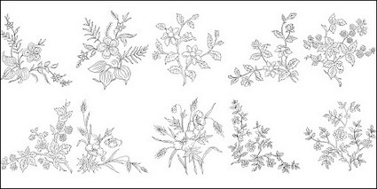 Flower Type Of Line Drawing Vector Diagram 4 Free Vector