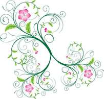 Abstract,Flourishes & Swirls,Flowers & Trees