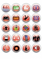 Icons,Music,Technology,Ornaments,Elements,Shapes,Business,Nature,Human,Objects,Web Elements