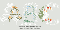 flower,abc,ornament,type,typography,floral,font