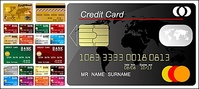 multiple,credit,card,template,material