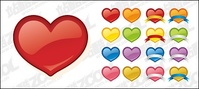 web2,style,heart,shaped,icon,vector,material