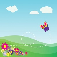 Backgrounds,Cartoon,Animals,Flowers & Trees