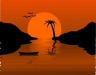 sunset,water,scene,sun,beach,media,clip art,public domain,image,jpg,svg