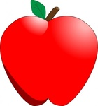 cartoon,apple,cleanup,red,food,fruit