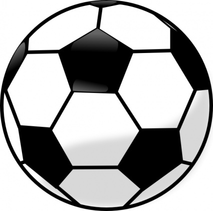 Soccer Ball Black Outline Sport Football Cartoon Free Vector