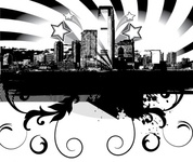 city,skyline,illustration,shadow