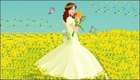 bride,butterfly,vector,material