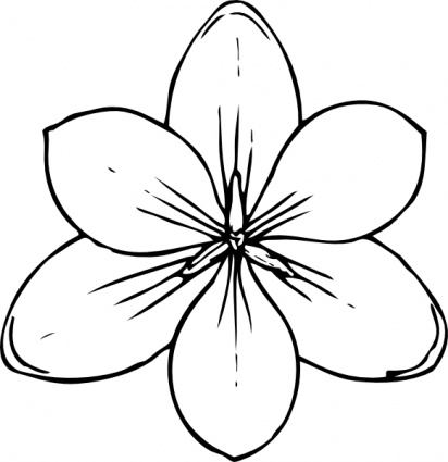 Red Flower Pedals clip art (115064) Free SVG Download / 4 Vector