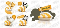 cute,animal,theme,subscribe,icon,material