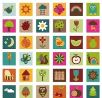 Nature,Icons,Animals,Flowers & Trees,Elements,Objects,Vintage,Web Elements