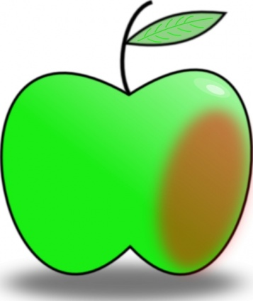 Free Download Of Simple Apple Clip Art Vector Graphic