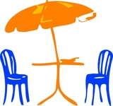 seat,umbrella,outdoor,terrace,cafe,furniture,table,chair