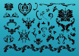Ornaments,Shapes,Silhouette