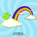 abstract,animal,background,bird,card,celebrate,cloud,cute,day,fun,greeting,happy,illustration,invitation,modern,paper,pastel,rainbow,sky,style