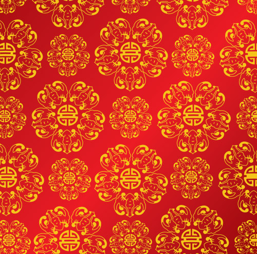 Chinese pattern vector