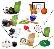 Objects,Sports,Technology,Icons