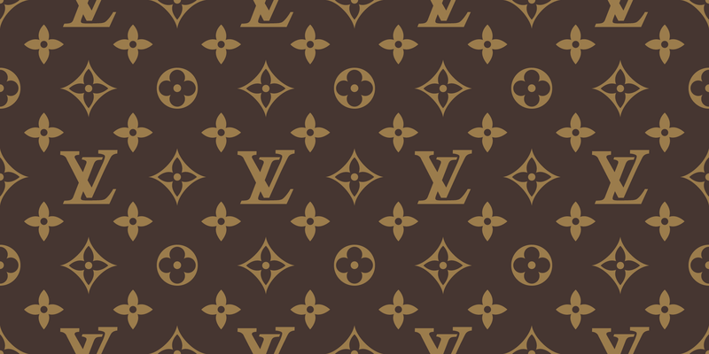 Seamless Louis Vuitton Pattern Vector Free Vector