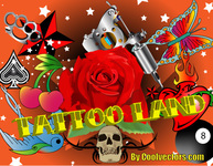 tattoo,land,vintage,ink,skull,rose,tat