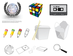 Icons,Objects,Shapes