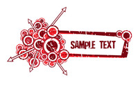 banner,text,grunge,arrow,circle,shape,red,retro,illustration