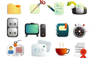 Icons,Technology,Business,Objects