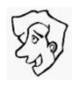 guy face,male face,cartoon face,happy face,line face,line drawing,cartoon,caricature,black and white drawing,funny