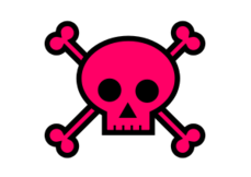 skull,crossbones,bone,halloween,pink,poison,kawaii,punk,girly