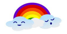 cloud,rainbow,weather,cute,kawaii
