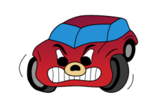 comic,red,angry,car,cartoon,hatch