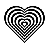zebra,heart,love,black,white,circle,square,geometry