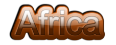 africa,glossy,gloss,african,earth color,3d,shaded,reflection,text,word,layered