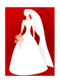 media,clip art,editorial pick,public domain,image,png,svg,stylised,line art,bride,wedding,marriage,woman,dress