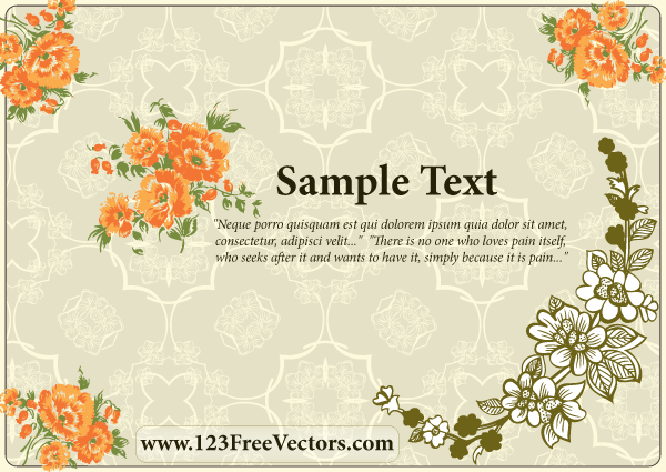 Free Download Of Flower Wedding Invitation Card Vector Graphic