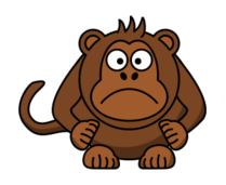monkey,angry,brown,sad